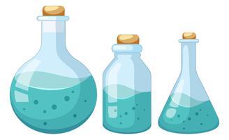 Set van vloeibare chemicus monster vector