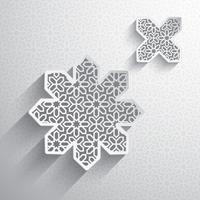 Papier afbeelding van islamitische ontwerpelement vector
