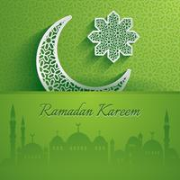 Ramadan Kareem. Wenskaart. vector