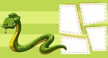 Snake op notitie sjabloon