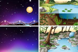 Set van verschillende scène vector