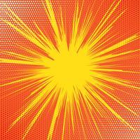 Retro starburst achtergrond vector