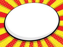 lege tekstballon stripboek