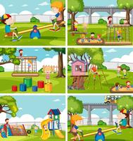 Kinderen op speelplaats instellen