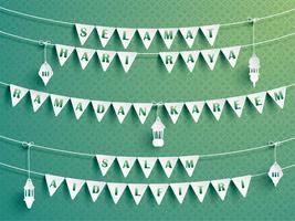 Feestelijke bunting vlaggen met groeten.
