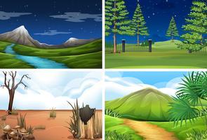 Set van de scène van de natuur vector