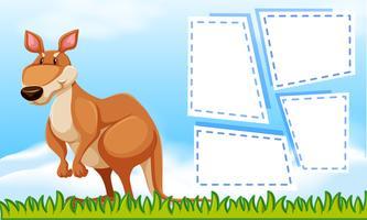 Kangaroo op natuur sjabloon vector