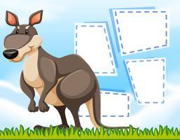 Een kangoeroe op lege sjabloon vector