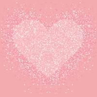 Pastelroze glitter hart. Shimmer liefde achtergrond. vector