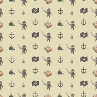Schattig piraat heer naadloze patroon