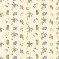 Schattig zomer naadloze patroon vector