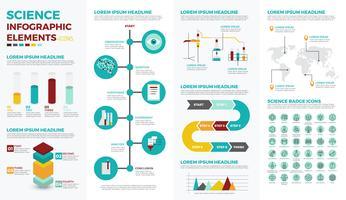 Wetenschap onderwijs infographic elementen