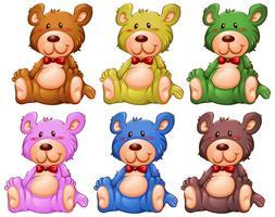 Set van teddybeer vector