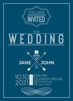 Vintage bruiloft uitnodiging kaartsjabloon