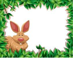 konijn in de jungle vector