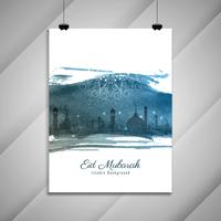 Abstract Islamitisch brochureontwerp Eid Mubarak