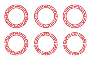 Chinees rood cirkel vastgesteld ontwerp