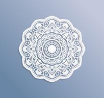 Kaarten of uitnodigingen met mandala patroon. Vector vintage handgetekende zeer gedetailleerde mandala elementen. Luxe kant feestelijke ornament-kaart. Islam, Arabisch, Indiaas, Turks, Ottomaans, Pakistan motieven.