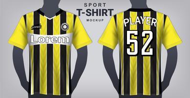 Voetbal Jersey en sport T-shirt Mockup sjabloon. vector