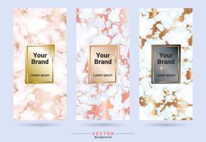 Productontwerpetiket van de verpakking en stickersmalplaatje.