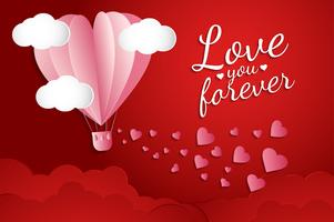 liefde Uitnodiging kaart Valentijnsdag abstracte achtergrond. Wenskaart, platte ontwerp Happy love. kan tekst toevoegen. vectorillustratie