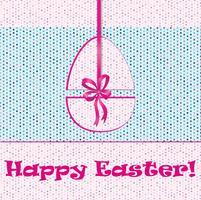 Easter Egg Sign. Pasen-wenskaartachtergrond. Religieus symbool. vector