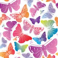 Vlinder naadloos patroon. Zomer vakantie dieren in het wild florale achtergrond. vector
