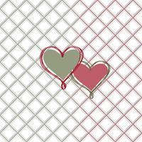 Liefde hart naadloze patroon Valentine dag vakantie geometrische sieraad vector