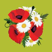 Bloemen geïsoleerd. Bloemen zomerboeket. vector
