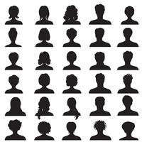 Avatar ingesteld. Mensen profileren silhouetten