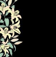 Naadloze bloemmotief. Bloem achtergrond. Bloei tuinrand vector
