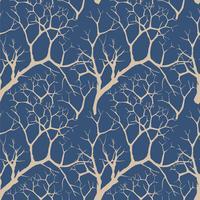 Bos naadloze achtergrond. Tuin boompatroon vector