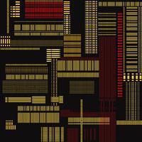 Abstracte virtuele textuur. Geometrisch lijn licht stedelijk naadloos patroon