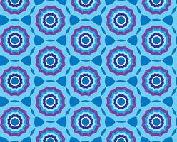 Naadloze blauwe patroonachtergrond met gestileerde paraplu