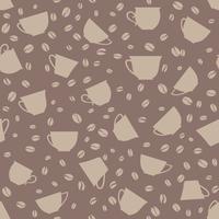 Koffie drinken naadloze achtergrond. Koffiebonen naadloze patroon.