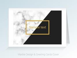 Marmeren wenskaarten en achtergrond dekking. vector