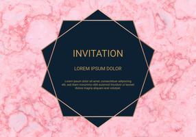 Wenskaart ontwerpsjabloon, minimale banner en dekking met marmeren textuur en geometrische gouden folie detail achtergrond. vector