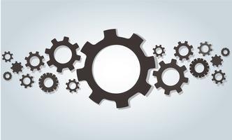 Gears wiel en ruimte achtergrond vector