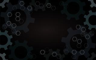 Abstracte versnellingen en zeshoek achtergrond