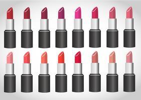 kleurrijke lippenstift vector