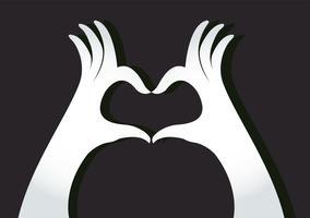 handen maken een hartsymbool