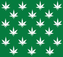 Marihuana achtergrond vector