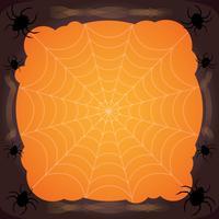 spinnenweb Halloween achtergrond vector