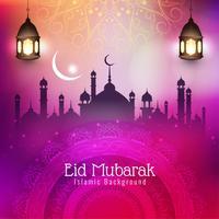 Abstracte Eid Mubarak islamitische religieuze achtergrond vector