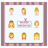 Verzameling van vrouwen haarstijlen