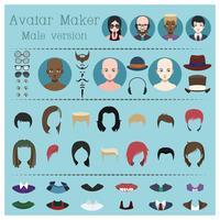 Mannelijke avatar maker vector
