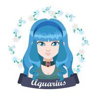 Zodiac sign illustration - Waterman