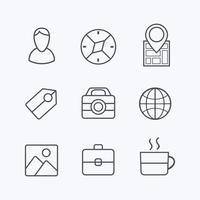 Reizen pictogrammen vector