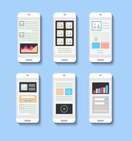 Verschillende interfaces in stijl vector