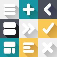 Print pictogrammen vector